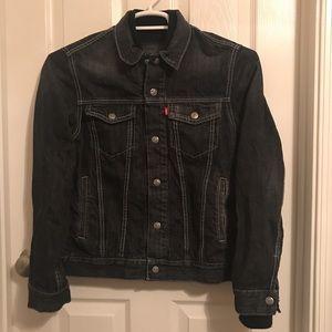 Levi's Red Tab Boys L Distressed Black Jacket